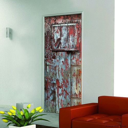Decorar la casa facil simpaticos vinilos para puertas 2 - Visillos para puertas ...