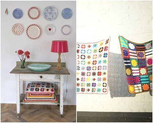 Ideas en crochet para decorar la casa decomanitas for Cojines para hamacas
