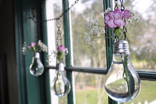 Ideas Para Decorar El Baño Reciclando:Reciclar bombillas usadas para decorar
