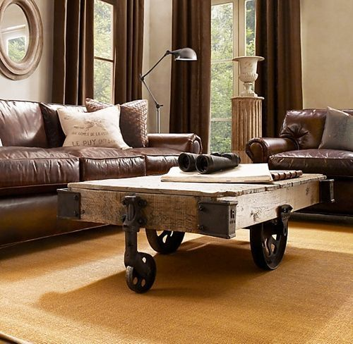 Mesas vintage con ruedas de carro 11 decomanitas - Mesas con ruedas de carro ...