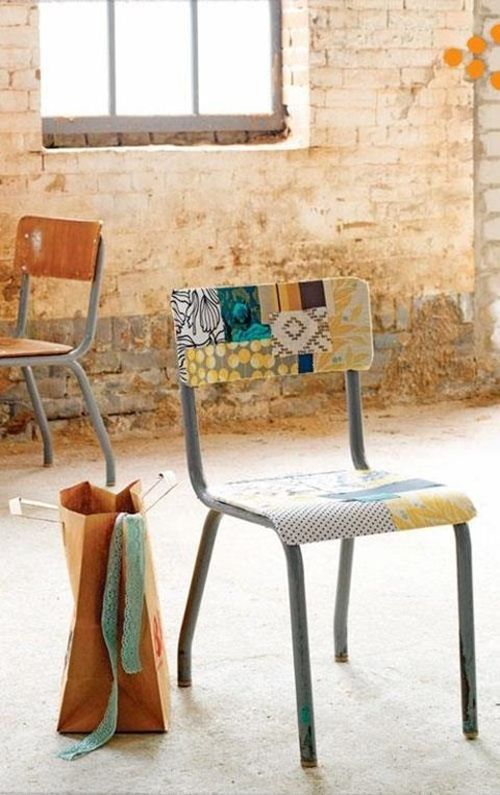 Viejas sillas de colegio para decorar decomanitas - Restaurar paredes viejas ...