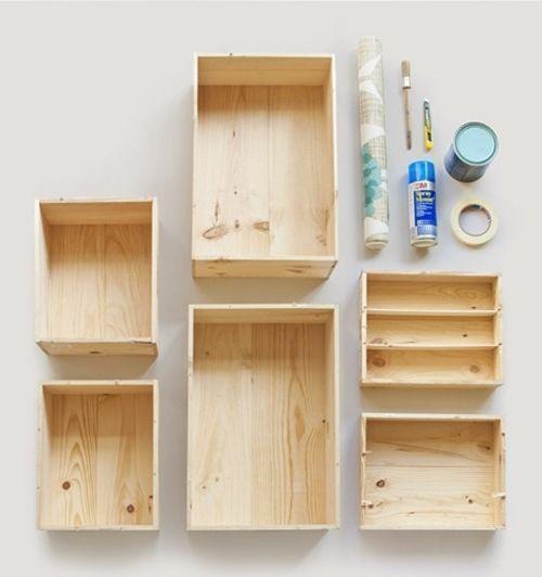 Decoracion Baño Color Vino:Tutorial cómo decorar con cajas de madera