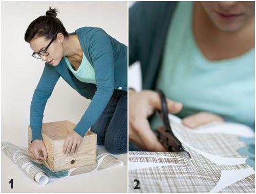 Tutorial c mo decorar con cajas de madera 3 decomanitas - Decorar cajas de madera con servilletas ...