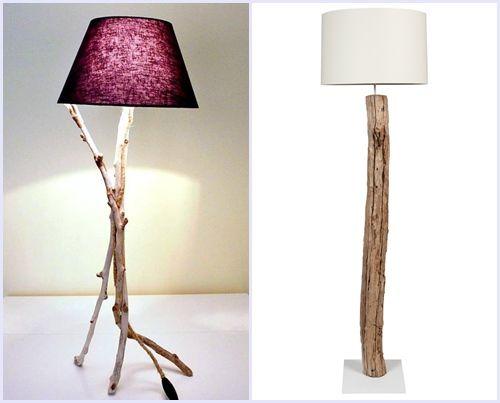 Ideas para decorar con ramas secas decomanitas - Lamparas de mesa recicladas ...