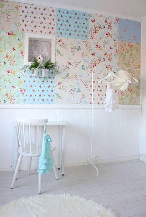 Ideas patchwork para paredes vintage decomanitas - Papel pintado para paredes ninos ...
