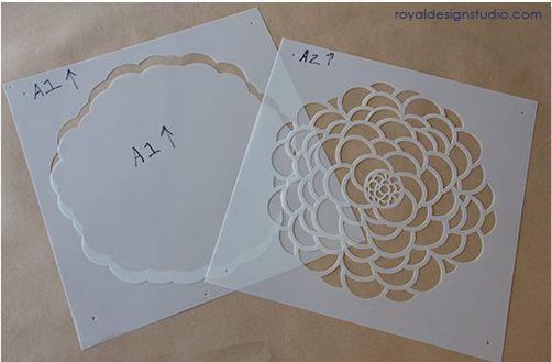 Plantillas para pintar paredes con flores decomanitas - Plantillas cenefas para pintar ...