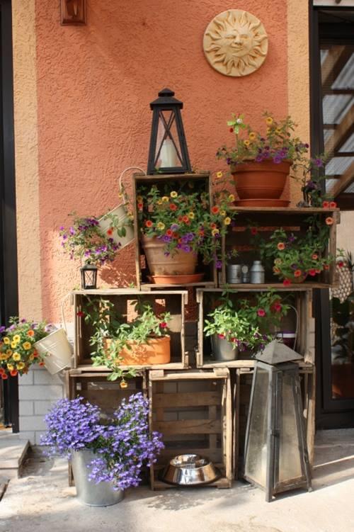 Ideas de decoracion con cajas de madera para fruta decomanitas - Cajones de fruta de madera ...