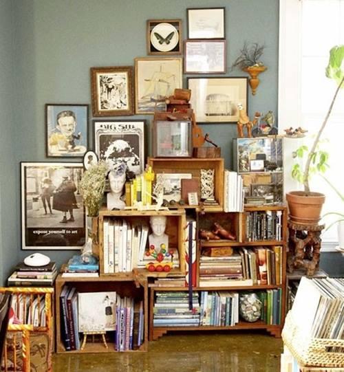 Casas cocinas mueble decoracion cajas de madera for Decoracion de cajas