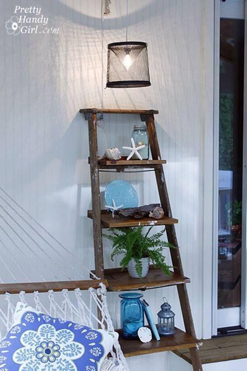 Reciclar para decorar viejas escaleras de madera - Escaleras de madera adorno ...