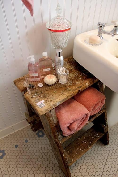 Decoracion Para Baño De Jardin Infantil:Reciclar para decorar: viejas escaleras de madera recuperadas