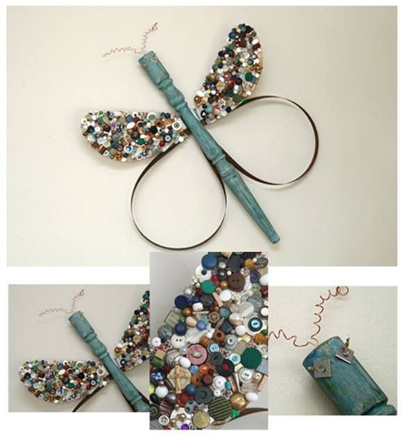 Reciclar y decorar lib lulas y mariposas vintage en tus - Objetos para decorar paredes ...