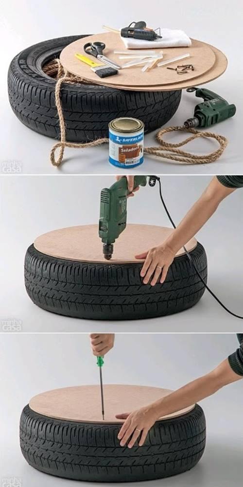 Qu hacer con un viejo neum tico ideas para reciclar - Ideas para reciclar en casa ...
