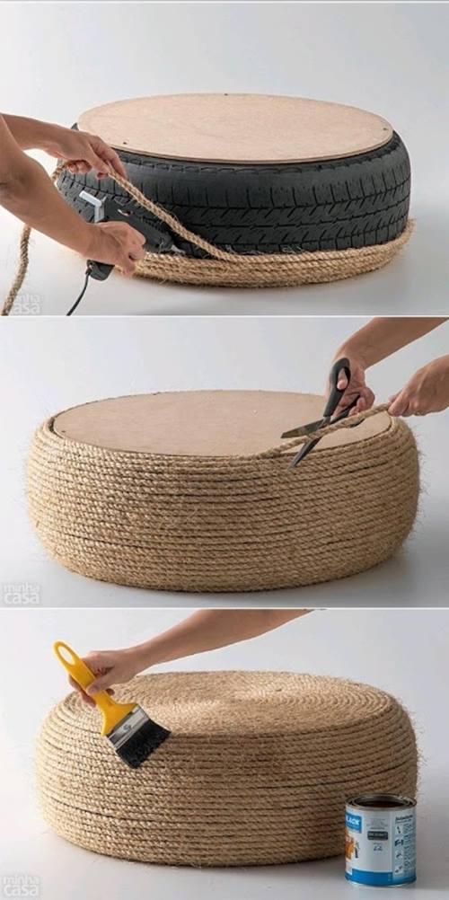Decorar Un Baño Viejo:Qué hacer con un viejo neumático: ¡ideas para reciclar decorando