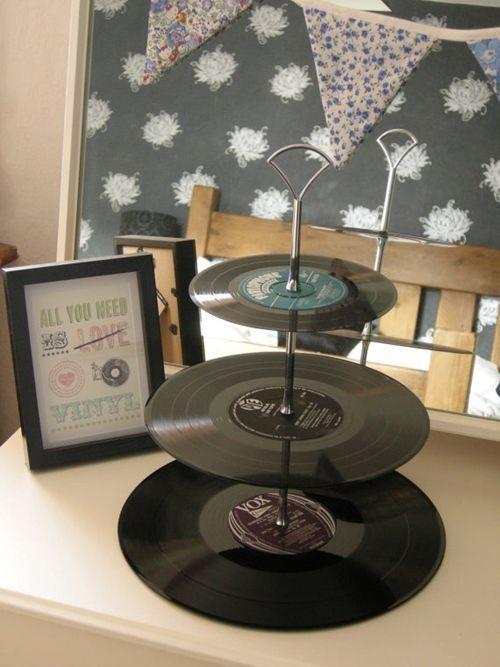 Ideas para decorar con viejos discos de vinilo decomanitas - Decoracion con discos de vinilo ...