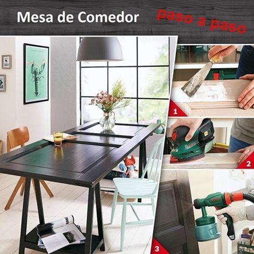 Transformar una vieja puerta en mesa de comedor decomanitas - Consolas que se convierten en mesas de comedor ...