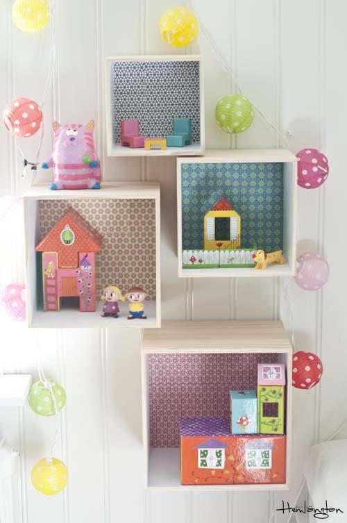 Cortinas De Baño Primark:Decorar cajas de madera para habitaciones infantiles