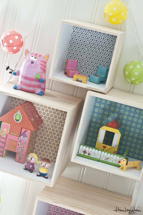 Decorar cajas de madera para habitaciones infantiles for Decoracion para pared infantil