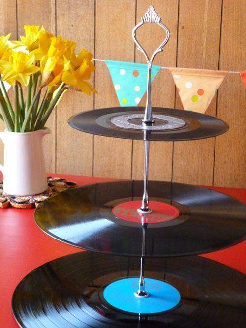Ideas para decorar con viejos discos de vinilo decomanitas - Vinilo para decorar ...