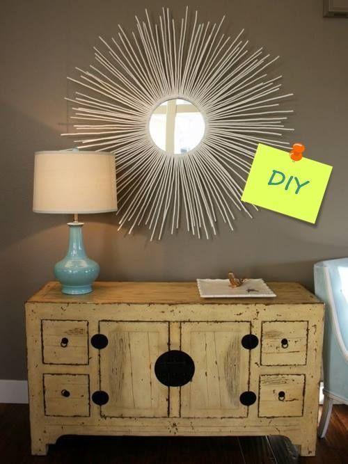 para decorar cmo hacer un espejo de sol vintage decomanitas
