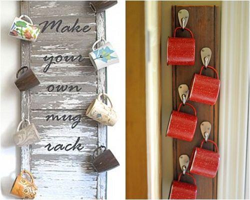 Ideas de decoraci n para colgar tazas mug en la cocina for Objetos decorativos para el hogar