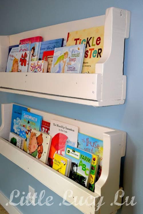 repisas modernas para libros en habitaciones para niños   decomanitas