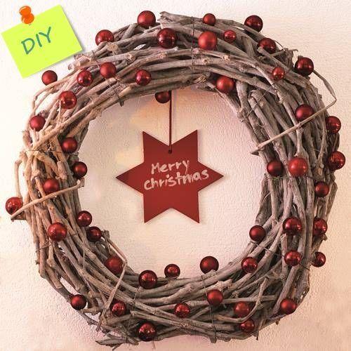 Manualidades Para Decorar Coronas De Navidad Con Ramas