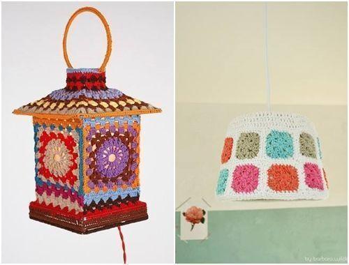 Manualidades para la casa lamparas de crochet las mas - Manualidades originales para casa ...