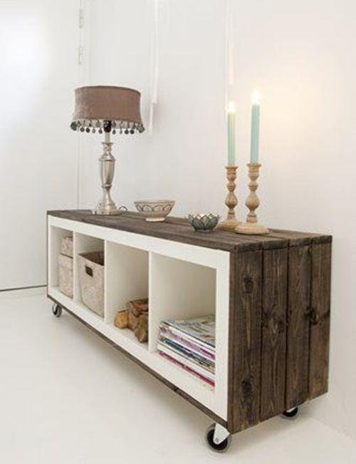 Cómo transformar muebles Ikea tunear estanterías Ikea Expedit con