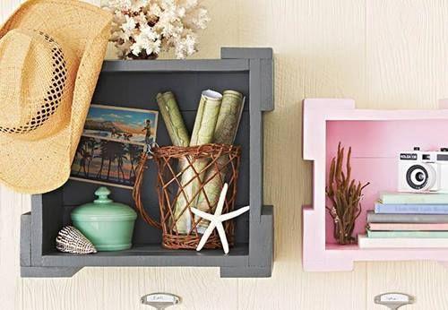 Nuevas ideas para pintar cajas de madera y reutilizarlas for Objetos decoracion cocina