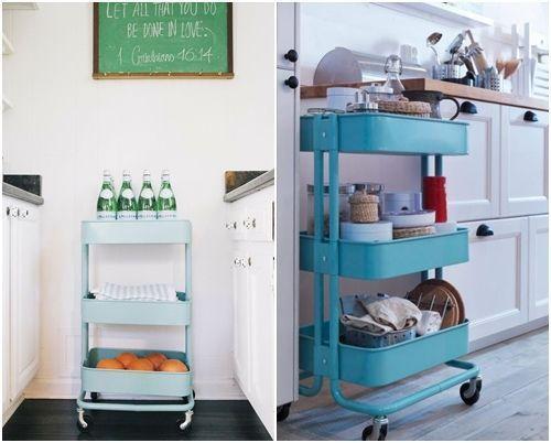 C mo transformar camareras de cocina ikea raskog en muebles de almacenaje decomanitas - Almacenaje de cocina ...