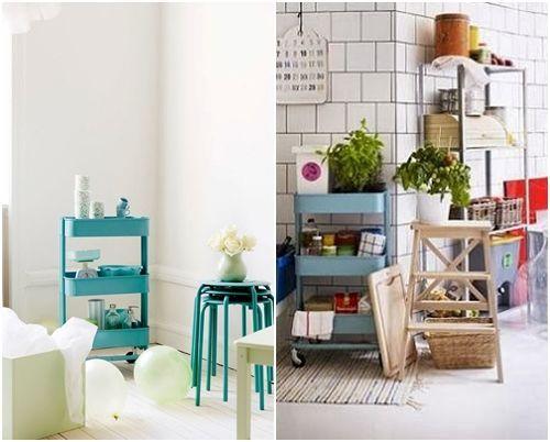 C mo transformar camareras de cocina ikea raskog en muebles de almacenaje decomanitas - Muebles para almacenaje ...
