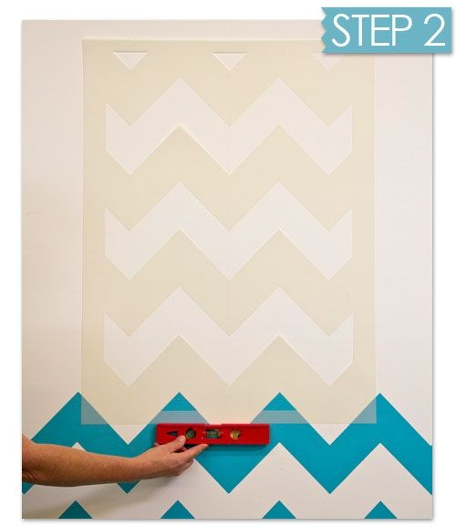 Nuevas ideas geom tricas con plantillas para pintar - Plantillas decorativas pared ...