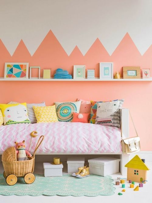 Dos colores para paredes ideales para cuartos infantiles - Colores para paredes de dormitorios ...