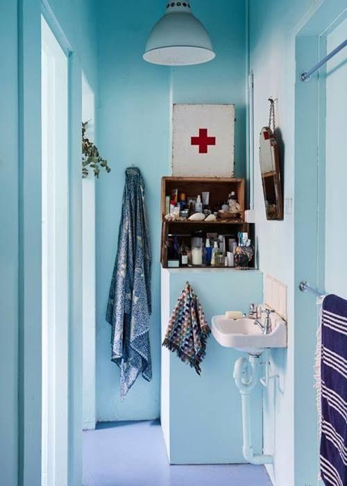 Decorar un baño azul ~ dikidu.com