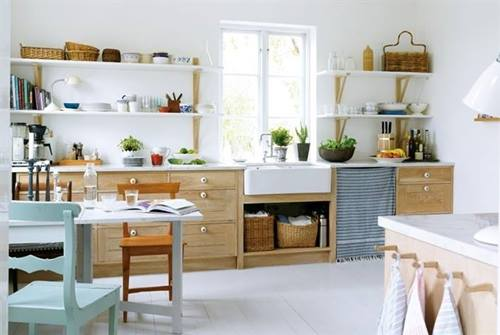 Estanter as de madera baratas con escuadras para cocinas con encanto 3 decomanitas - Cocinas con encanto ...