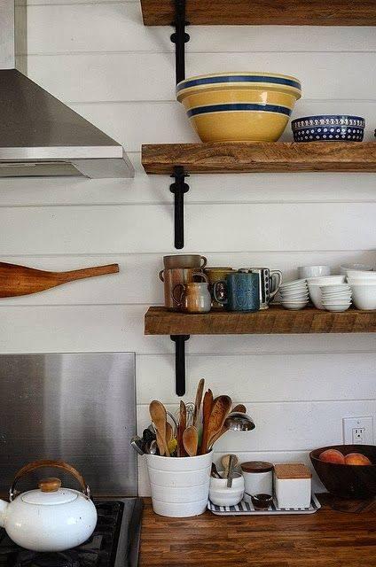 Estanter as de madera baratas para cocinas con encanto for Estanteria bano barata