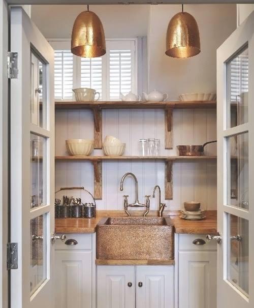 estanteras de madera baratas para cocinas con encanto decomanitas - Cocinas Rusticas Baratas