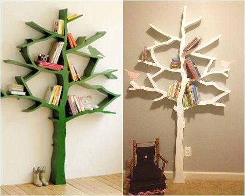 Hacer estanter as de madera en forma de rbol decomanitas - Construir en madera ...