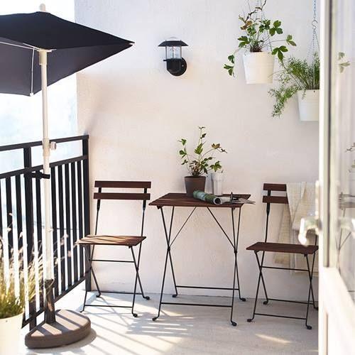muebles de terraza para espacios peque os by ikea