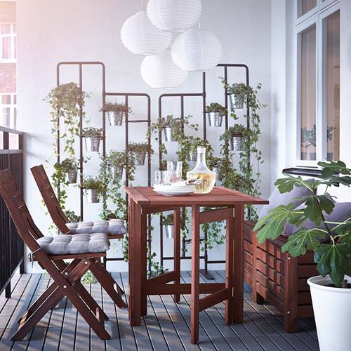 Muebles de terraza para espacios peque os by ikea for Ikea muebles exterior 2014