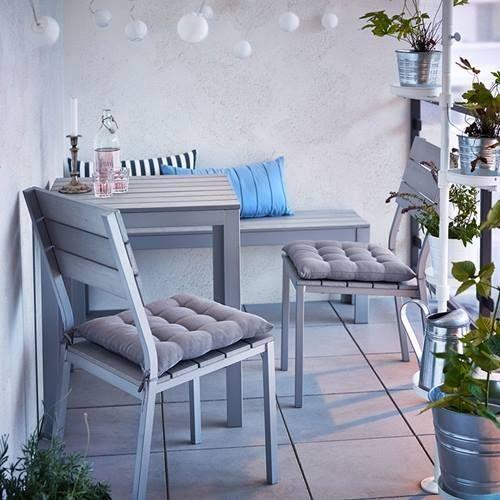Muebles de terraza para espacios peque os by ikea decomanitas - Silla terraza ikea ...