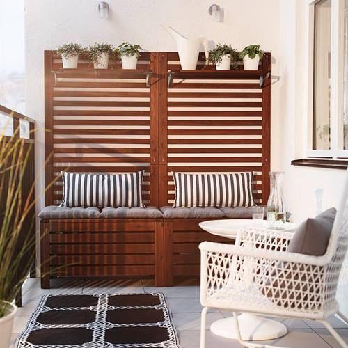 Muebles de terraza para espacios peque os by ikea for Decoracion jardin ikea