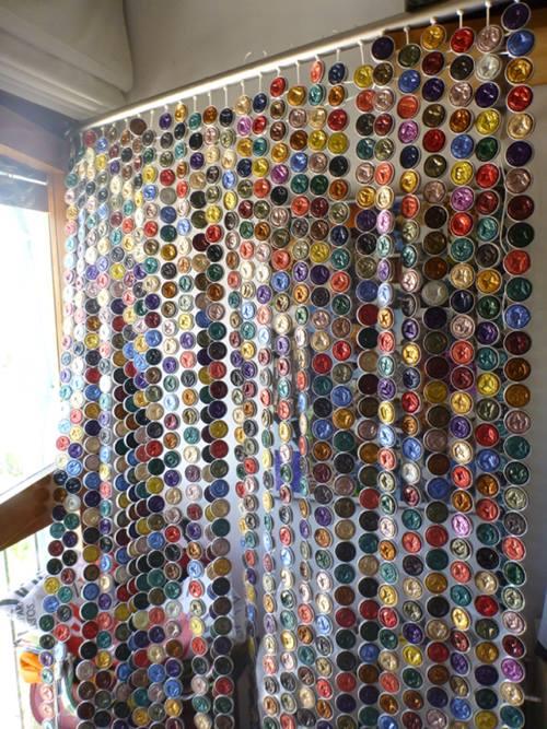 C mo hacer cortinas con c psulas nespresso paso a paso for Puertas de material reciclado