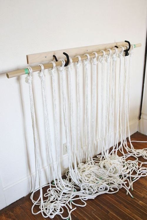 como hacer cortinas de macrame paso a paso 5 decomanitas. Black Bedroom Furniture Sets. Home Design Ideas