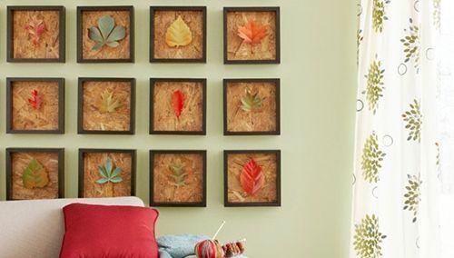 Hacer cuadros decorativos con hojas secas decomanitas - Como hacer cuadros faciles en casa ...