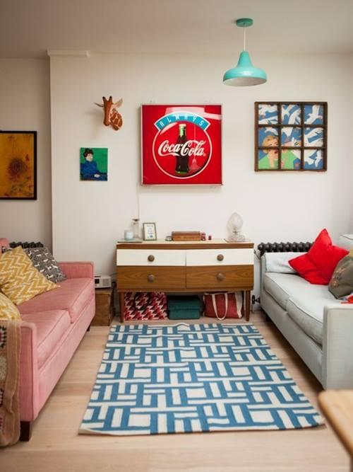 Decoraci n vintage para una casa que parece de caramelo for Decoracion retro pop