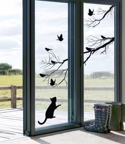 Vinilos para ventanas que sirven para decorar y dar - Vinilos cristales ventanas ...