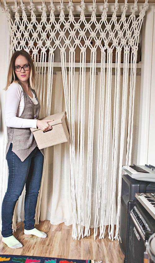 Cortinas De Baño Faciles De Hacer:Cómo hacer cortinas de macramé paso a paso
