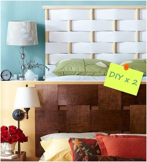 Cabeceros de cama originales para hacer con tiras entrelazadas decomanitas - Como hacer cabecero de cama ...