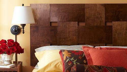 Cabeceros de cama originales para hacer con tiras entrelazadas decomanitas - Cabeceros cama originales ...